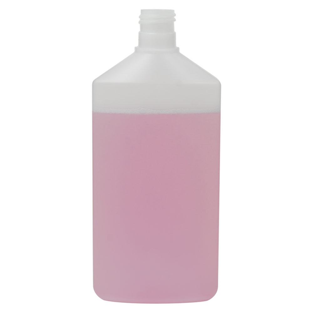 350mL Natural HDPE Daily Flat Oval Bottle with 24/415 Neck (Cap Sold Separately)