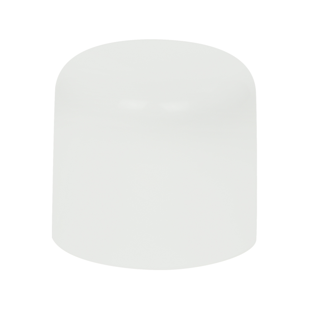 28mm White Extra Large Domed Double Wall Polypropylene Cap with Bore Seal