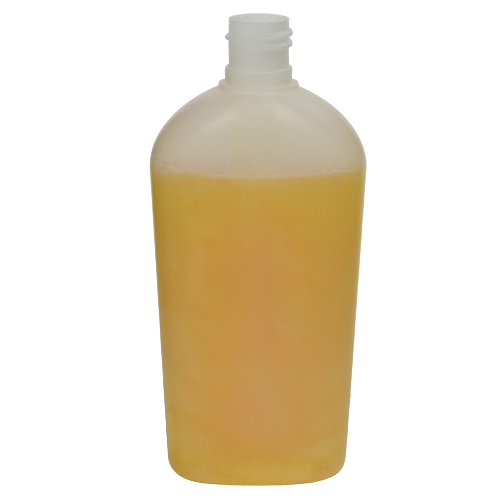 150mL Natural Continental Oval HDPE Bottle with 20/415 Neck (Cap Sold Separately)