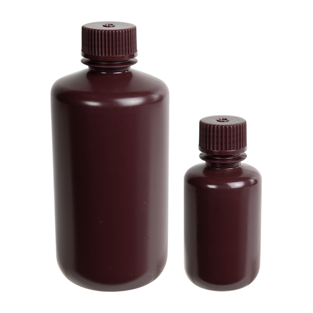 Diamond RealSeal™ Amber Narrow Mouth Bottles with Caps