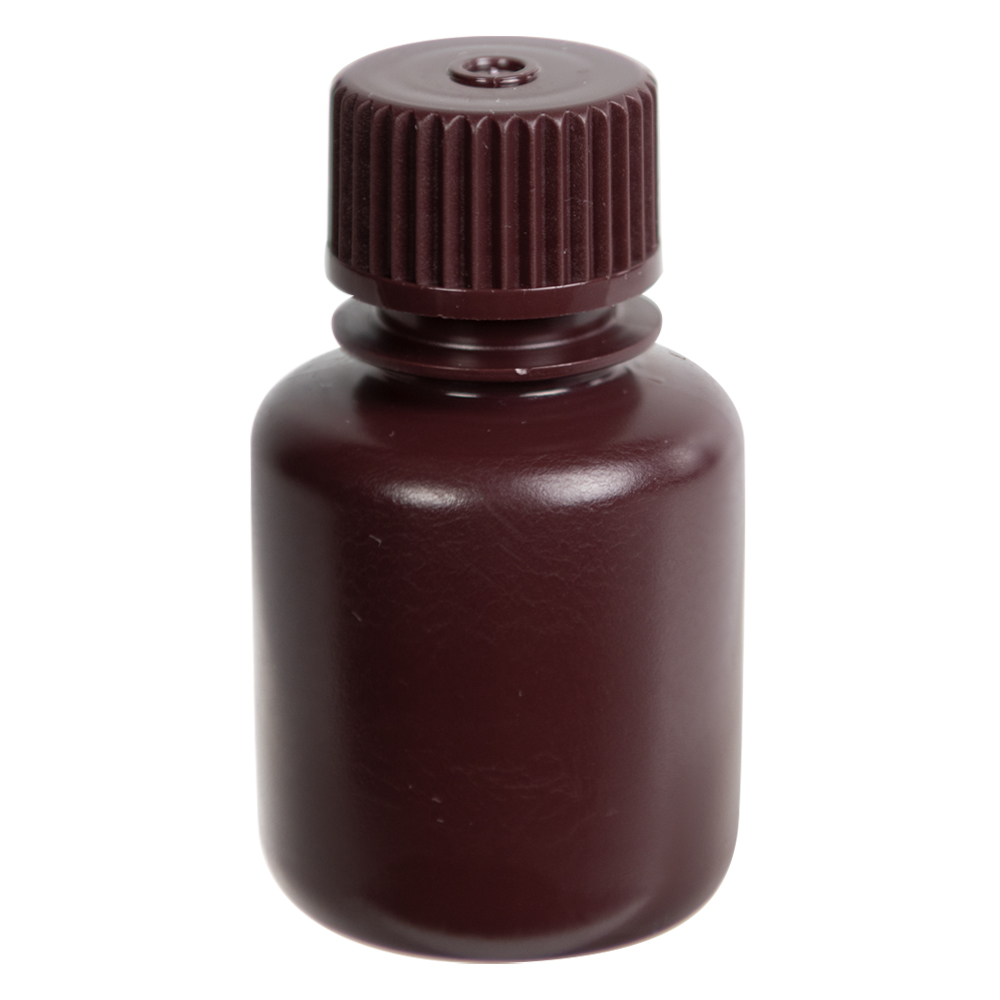 30mL Diamond® RealSeal™ Amber Narrow Mouth Bottle with 20mm Cap