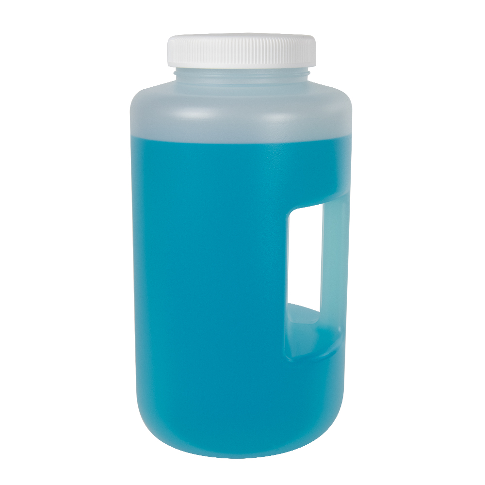 4L Diamond RealSeal™ Polypropylene Large Format Round Bottle with 100mm Cap
