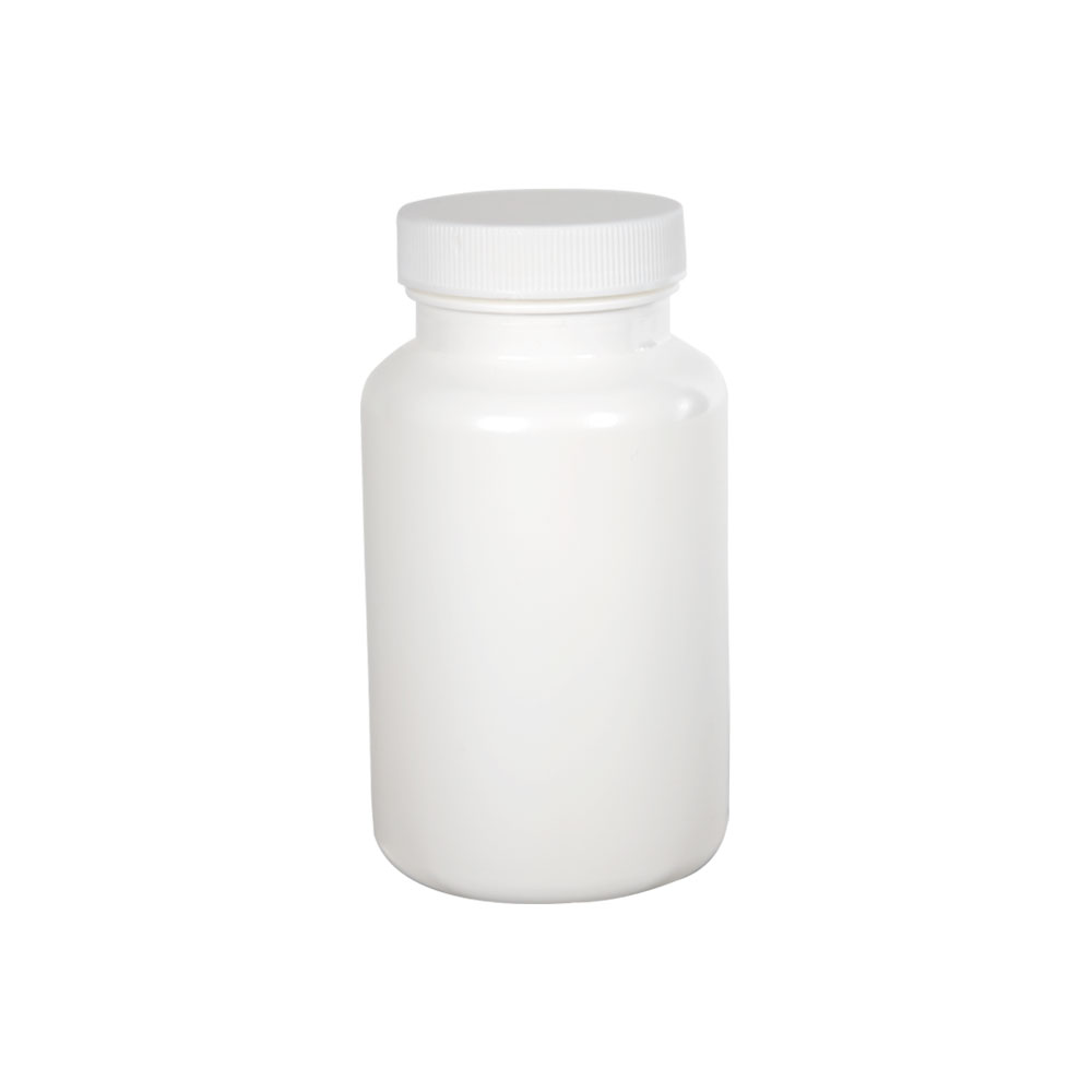 225cc/7.6 oz. White Packer with 45/400 Plain Cap