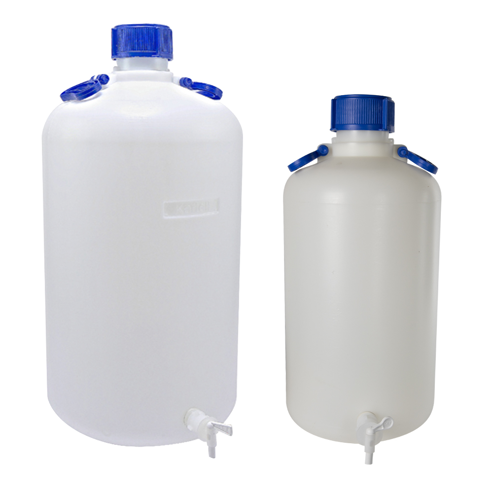 Kartell Heavy-Walled Narrow Mouth HDPE Carboys with Spigots