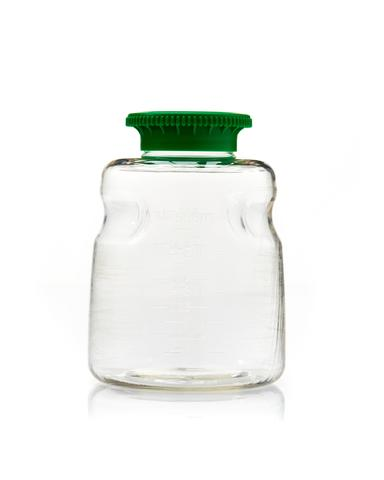 500mL SECUREgrasp® PETG Sterile Bottles with 45mm Green Caps