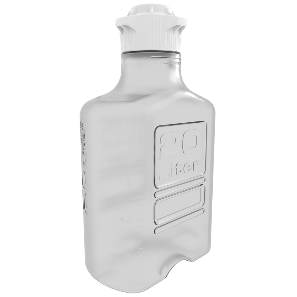 20L Clear EZgrip® Polycarbonate Carboy with 120mm Closed Cap