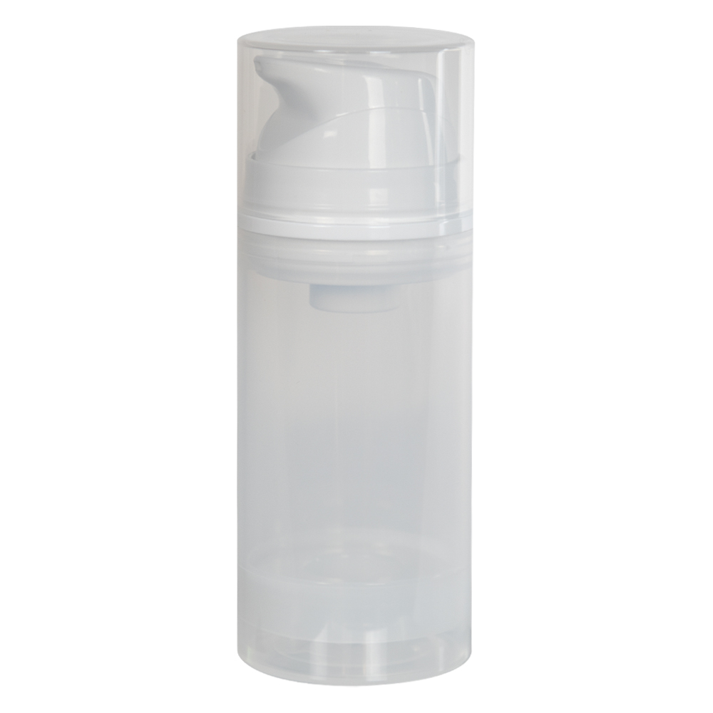 100mL Natural/White Empress Treatment Bottle with Pump & Cap