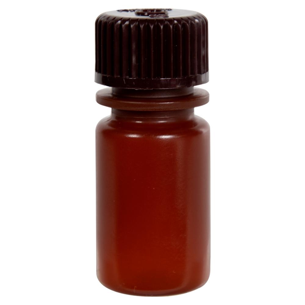 15mL Nalgene™ Narrow-Mouth Translucent Amber HDPE Bottle with 20/415 Cap