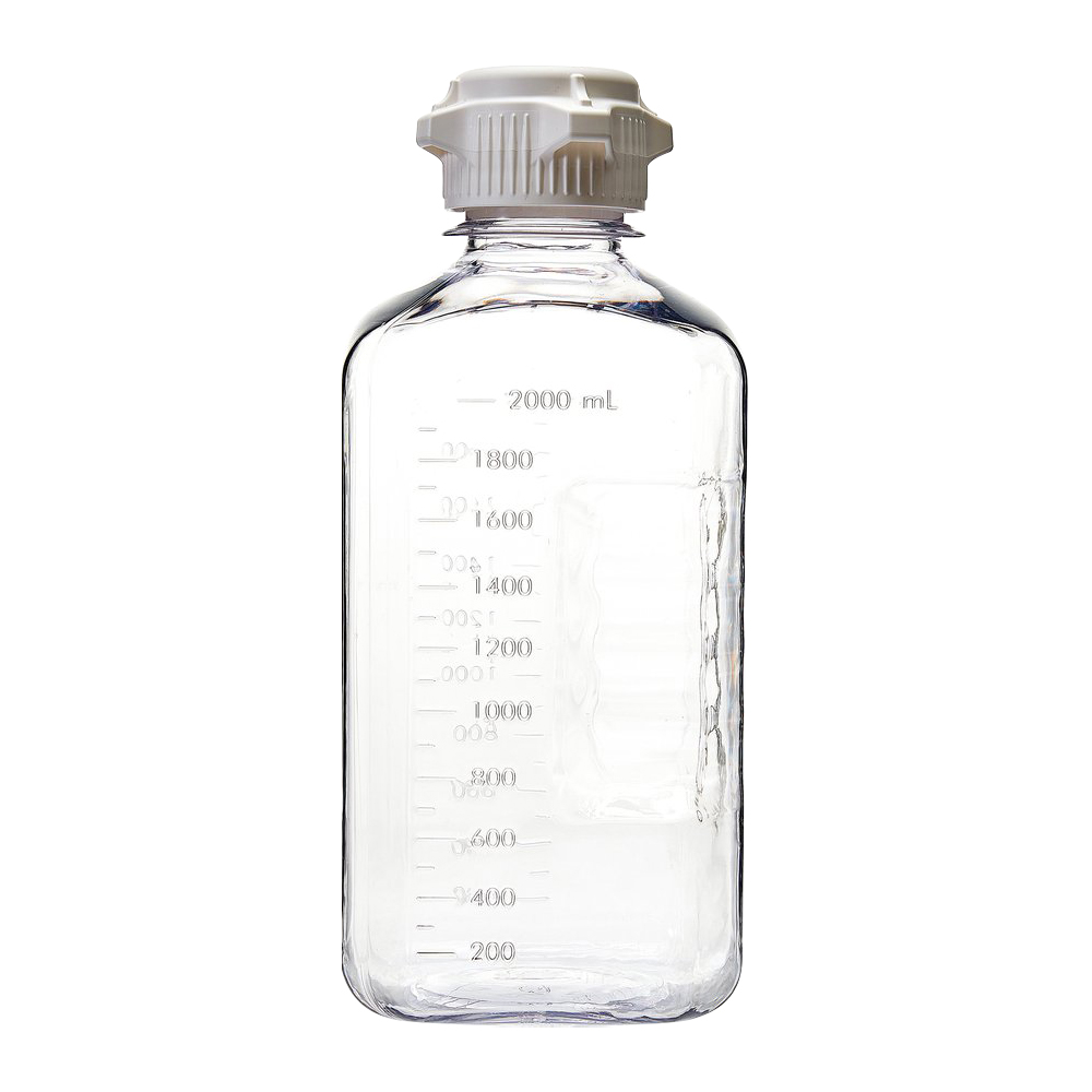 2000mL EZBio® Sterile PETG Media Bottles with 53B Closed VersaCaps®
