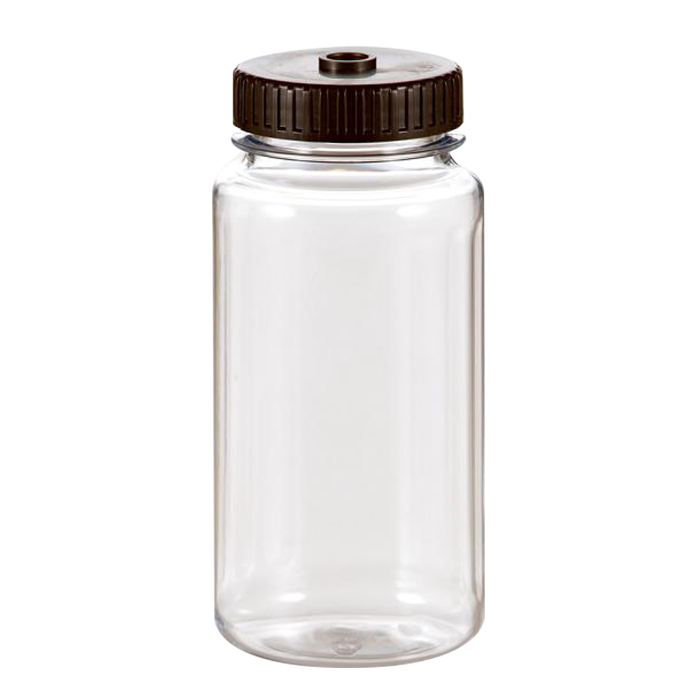 500mL Polycarbonate Wide Mouth Graduated Bottles with 63mm Caps - Case of 72