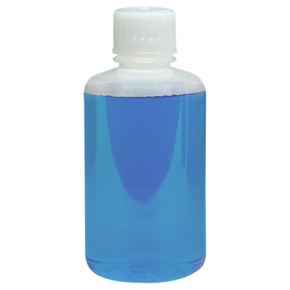 500mL Polypropylene Boston Round Aseptic Graduated Bottles with 38/430 Standard Caps