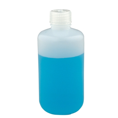4 oz./125mL Nalgene™ Lab Quality Narrow Mouth HDPE Bottles with 24mm Caps (Sold by Case)