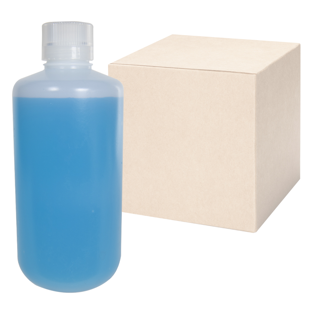 32 oz./1000mL Nalgene™ Lab Quality Narrow Mouth HDPE Bottles with 38/430 Caps - Case of 24