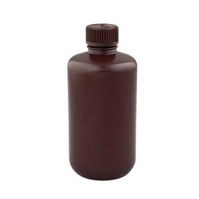 16 oz./500mL Nalgene™ Narrow Mouth Amber Bottles with 28mm Caps (Sold by Case)
