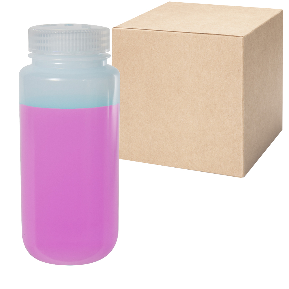 16 oz./500mL Nalgene™ Wide Mouth LDPE Bottles with 53mm Caps - Case of 48