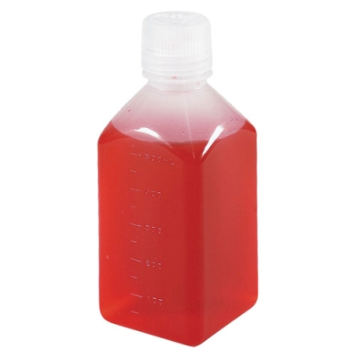 4 oz./125mL Nalgene™ Narrow Mouth Polypropylene Square Bottles with 38/430 Caps (Sold by Case)