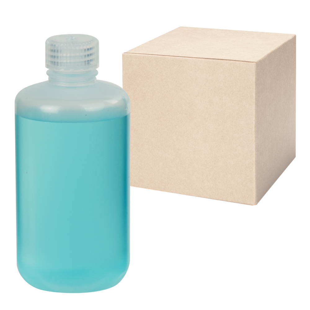 8 oz./250mL Nalgene™ Narrow Mouth Economy Polypropylene Bottles with 24mm Caps (Sold by Case)