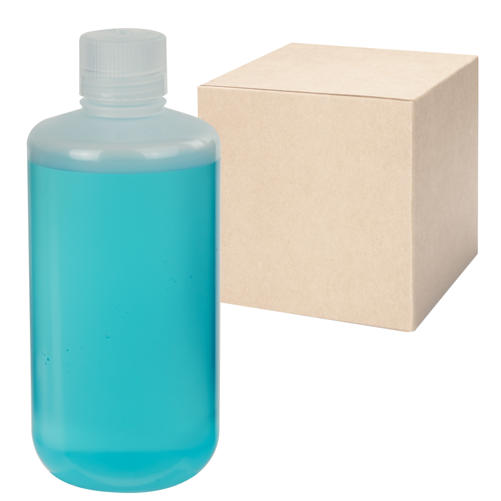 32 oz./1000mL Nalgene™ Narrow Mouth Economy Polypropylene Bottles with 38mm Caps - Case of 24