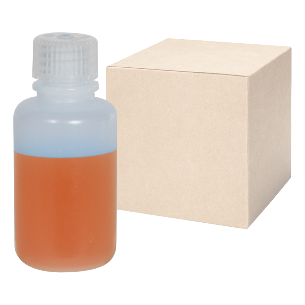 2 oz./60mL Nalgene™ Narrow Mouth IP2 HDPE Shipping Bottles with 20mm Caps - Case of 72