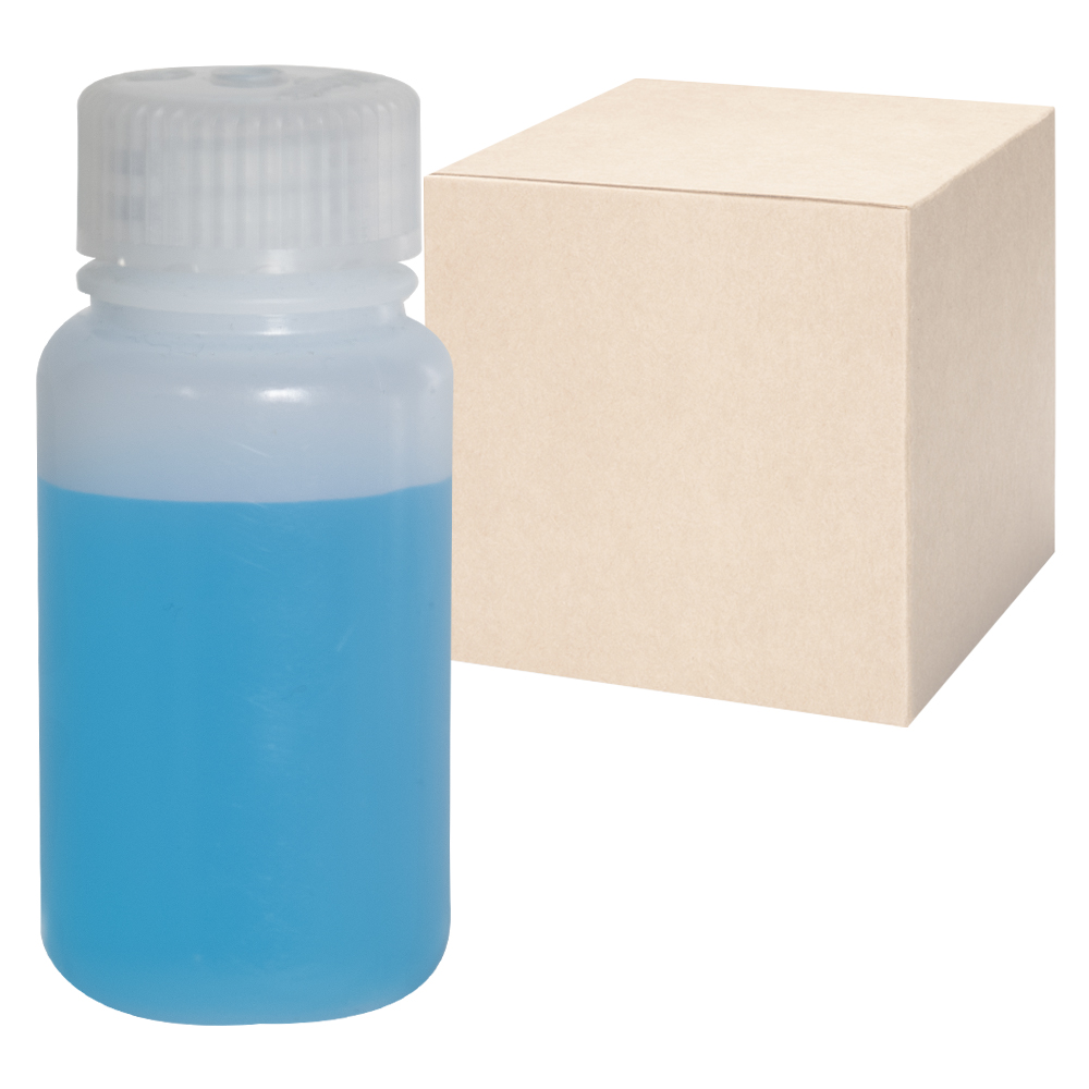 2 oz./60mL Nalgene™ Lab Quality Wide Mouth HDPE Bottles with 28mm Caps - Case of 72