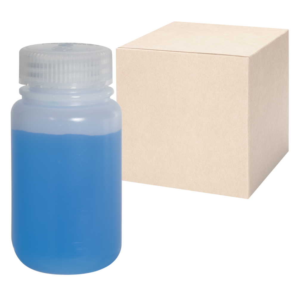 4 oz./125mL Nalgene™ Lab Quality Wide Mouth HDPE Bottles with 38mm Caps - Case of 72
