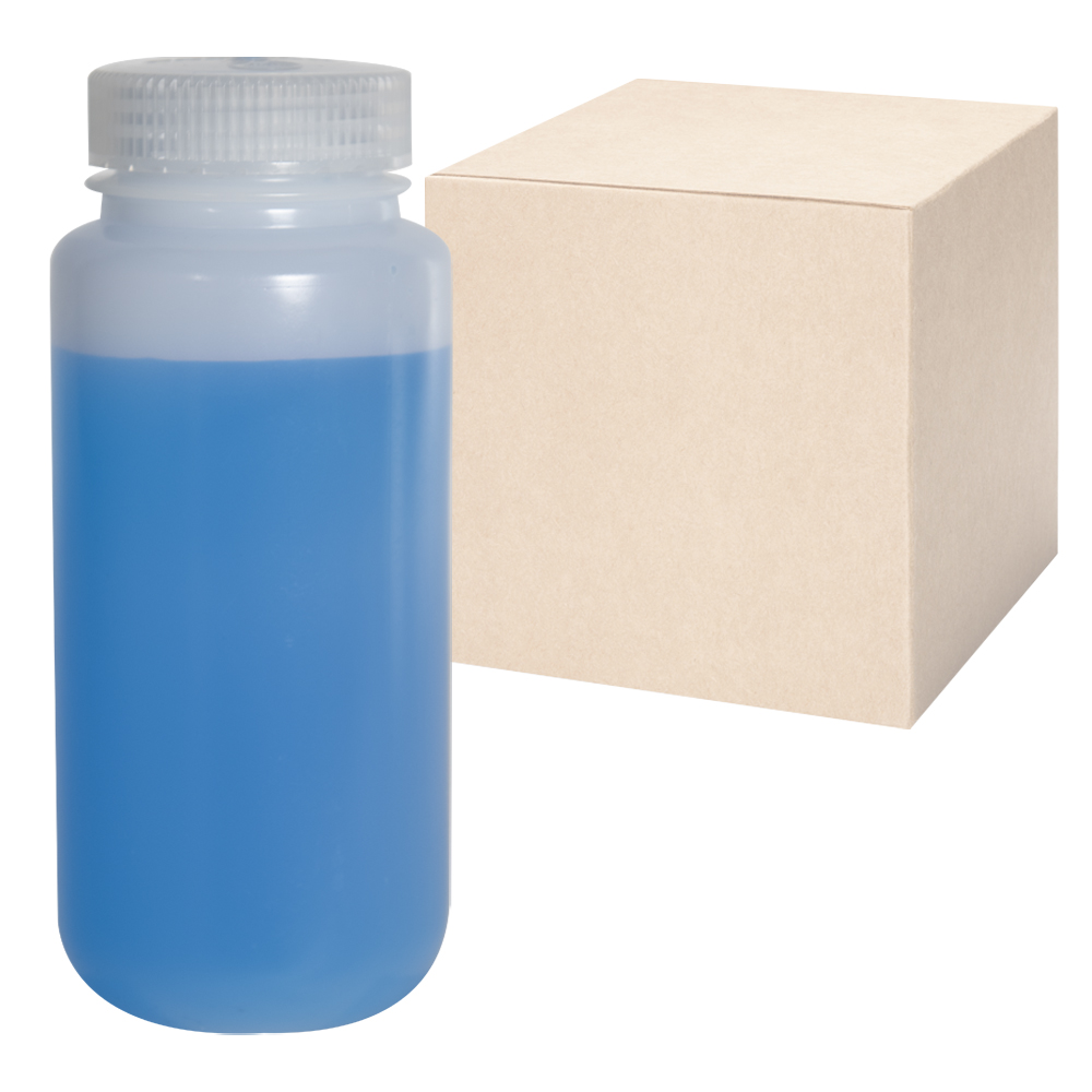 16 oz./500mL Nalgene™ Lab Quality Wide Mouth HDPE Bottles with 53mm Caps - Case of 48