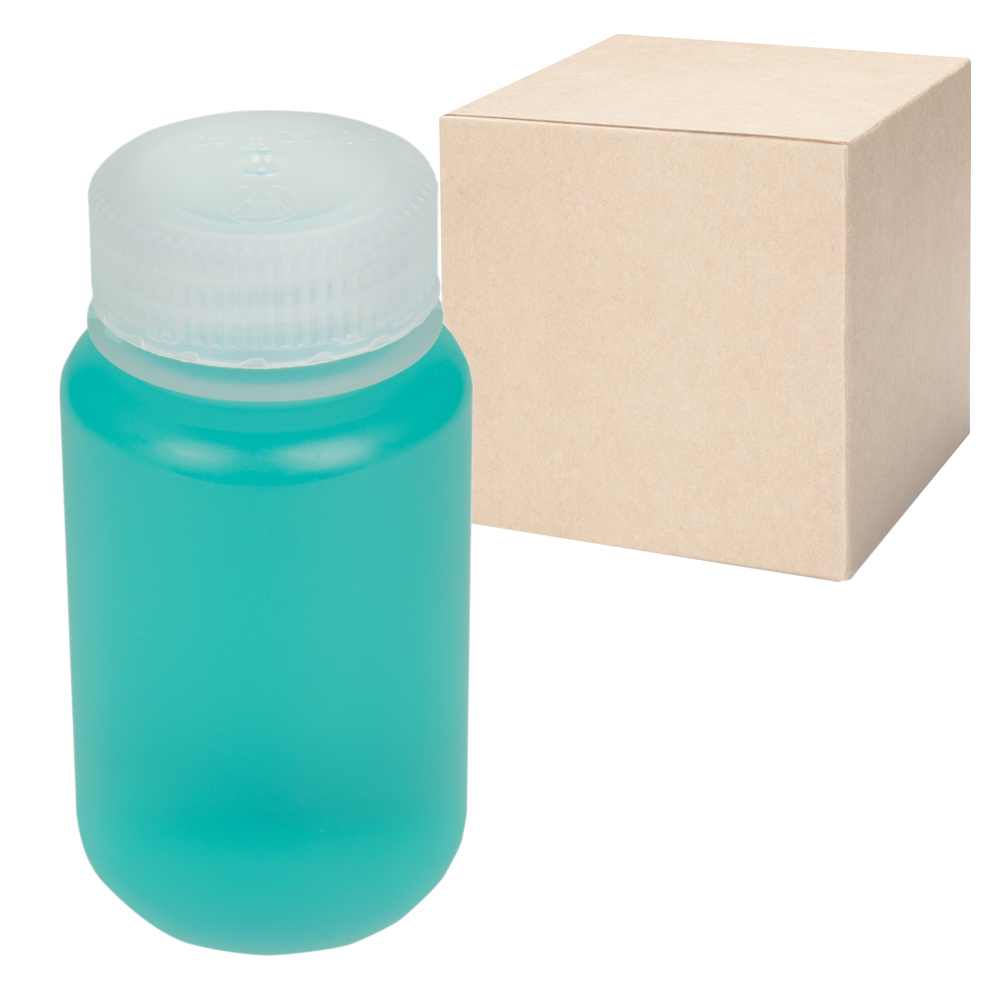 4 oz./125mL Nalgene™ Wide Mouth Economy Polypropylene Bottles with 38mm Caps (Sold by Case)
