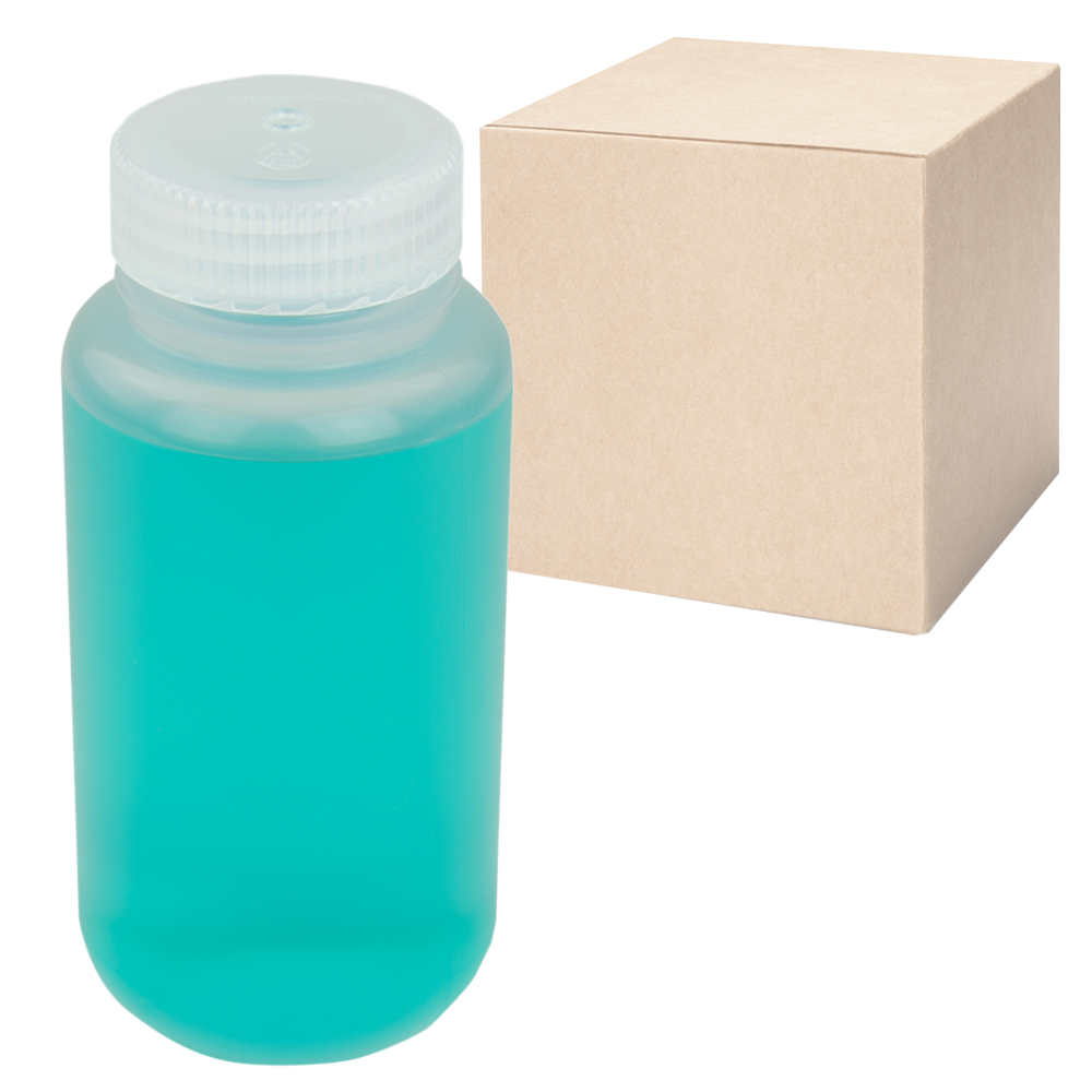 8 oz./250mL Nalgene™ Wide Mouth Economy Polypropylene Bottles with 43mm Caps - Case of 72