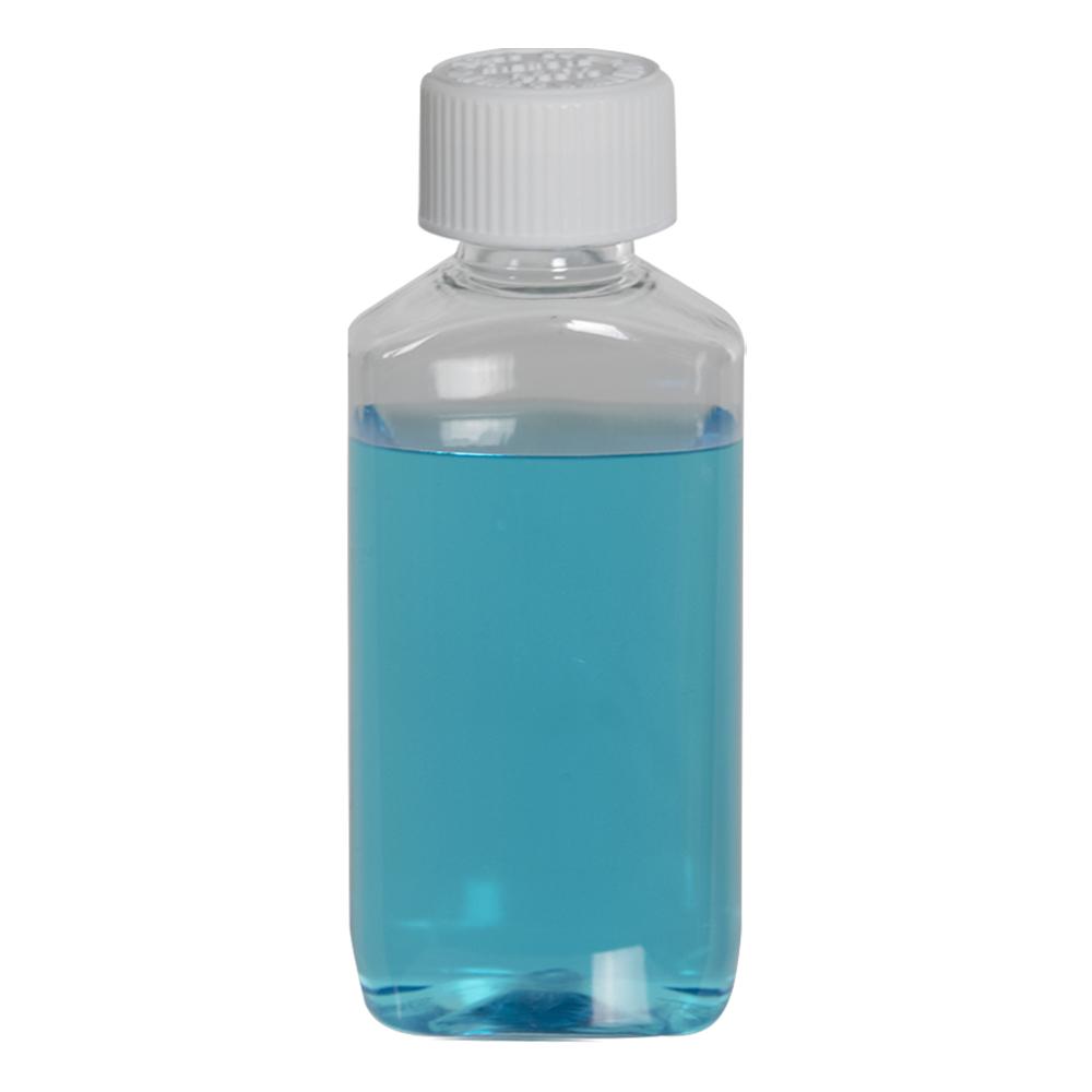 2 oz. Clear PET Drug Oblong Bottle with 20/410 CRC Cap