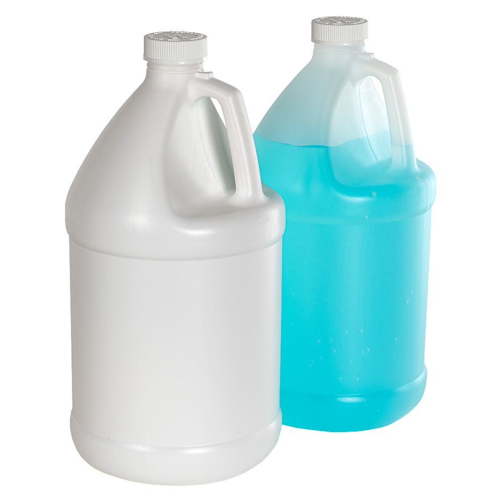 Economy Industrial Round Jugs with CRC Caps