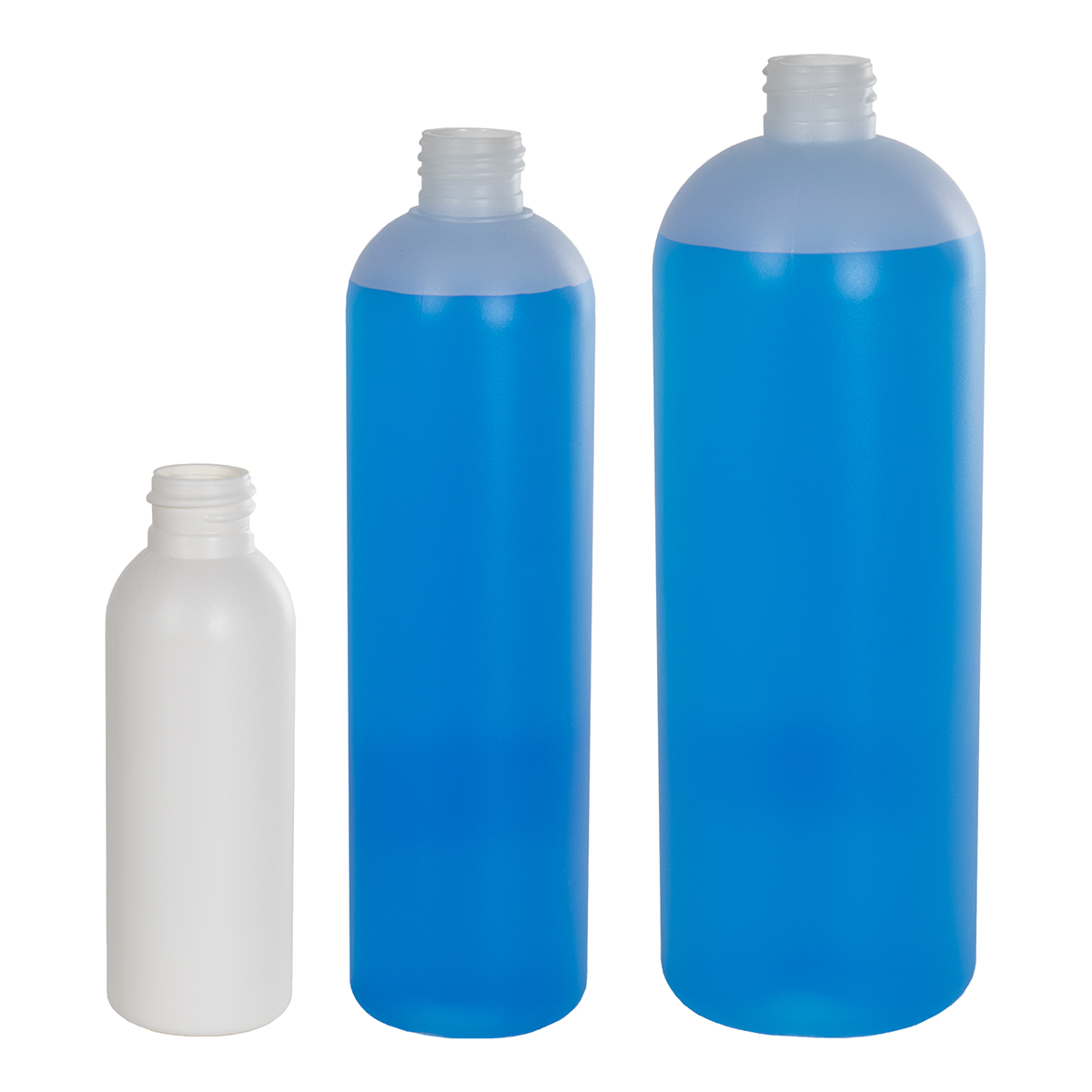 8 oz. HDPE Natural Cosmo Bottle with CRC 24/410 Cap