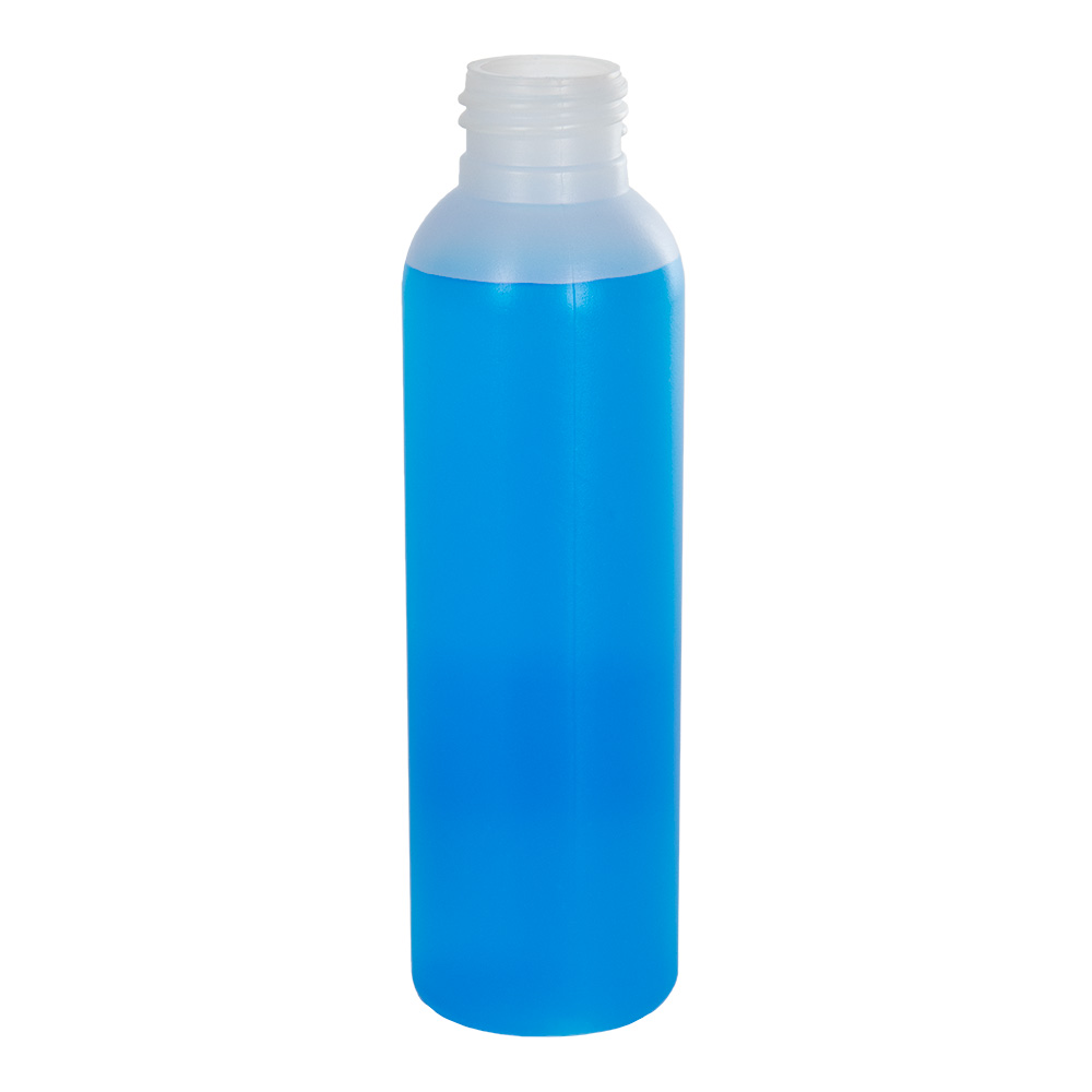 4 oz. HDPE Natural Tall Cosmo Bottle with 24/410 Neck (Cap Sold Separately)