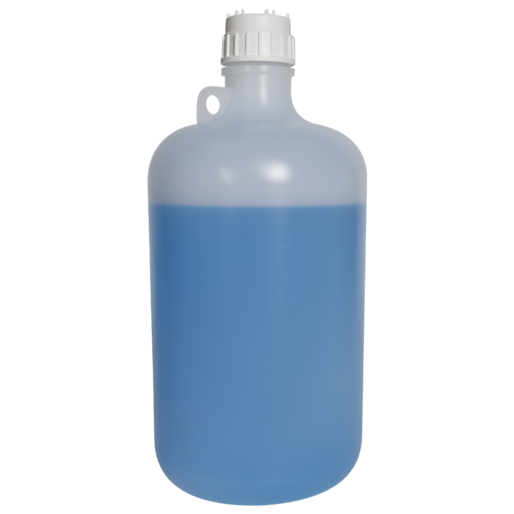 8 Liter Diamond® RealSeal™ LDPE Large Format Round Bottle with 53mm Cap
