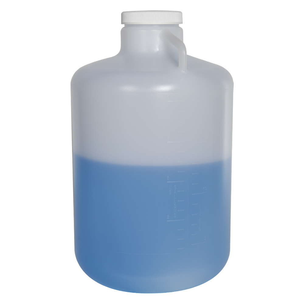 20 Liter Diamond® RealSeal™ Round Wide Mouth LDPE Carboy