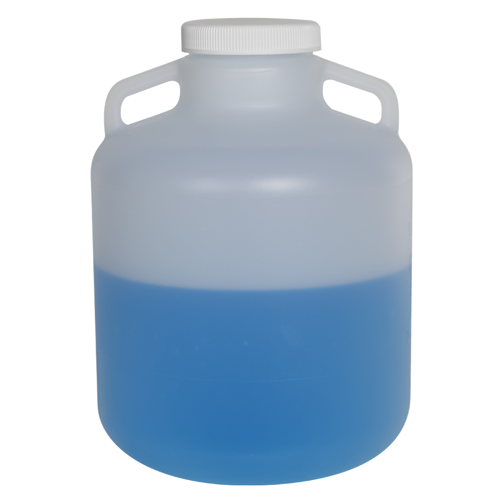 10 Liter Diamond® RealSeal™ Round Wide Mouth Polypropylene Carboy