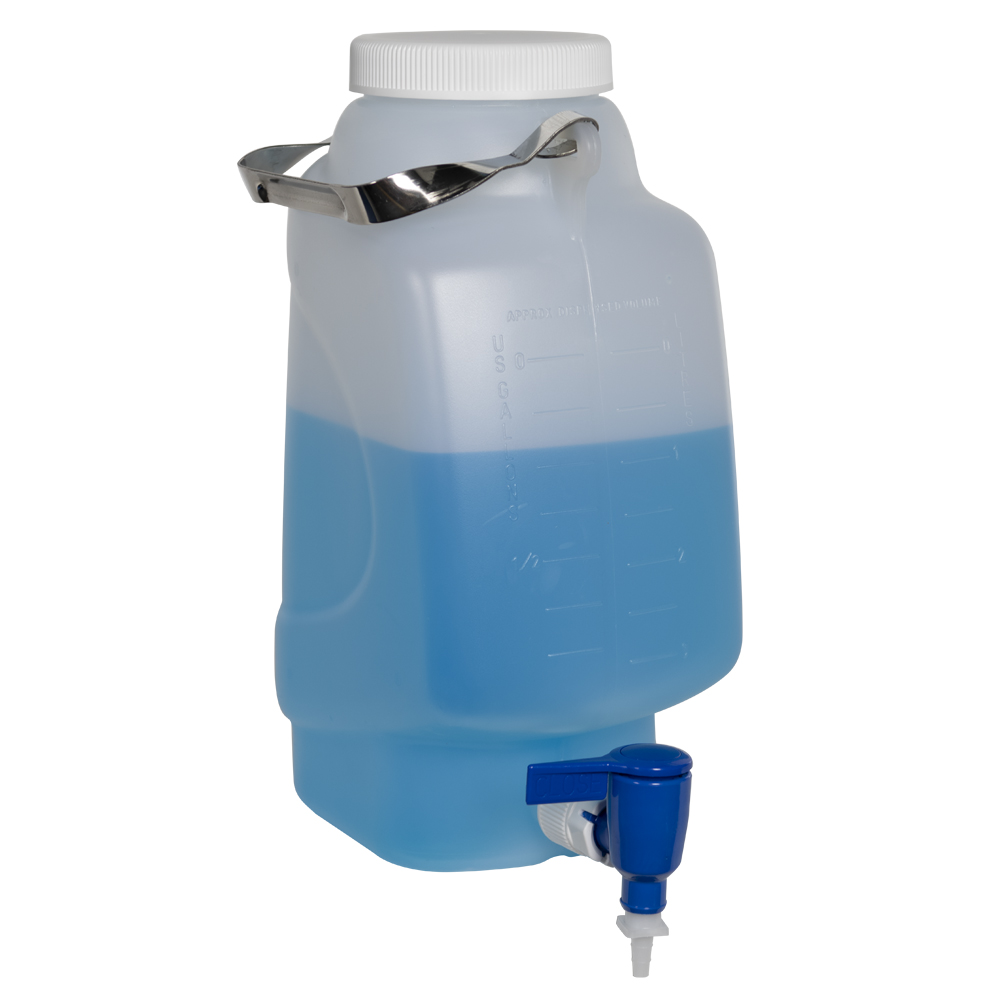 5 Liter Diamond® RealSeal™ Rectangular Polypropylene Carboy with Spigot