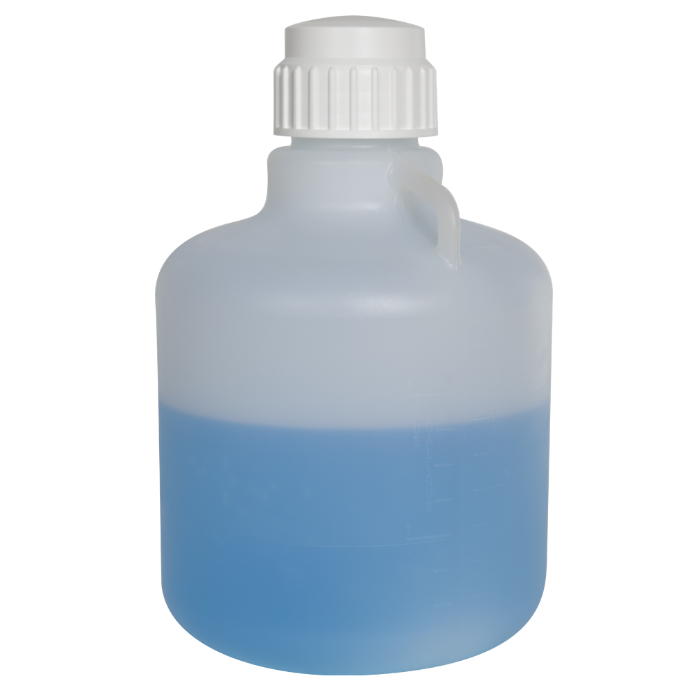 10 Liter Diamond® RealSeal™ Round Heavy-duty Polypropylene Carboy