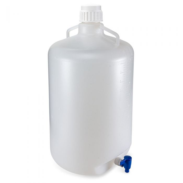 50 Liter Diamond® RealSeal™ Round Polypropylene Carboy with Spigot