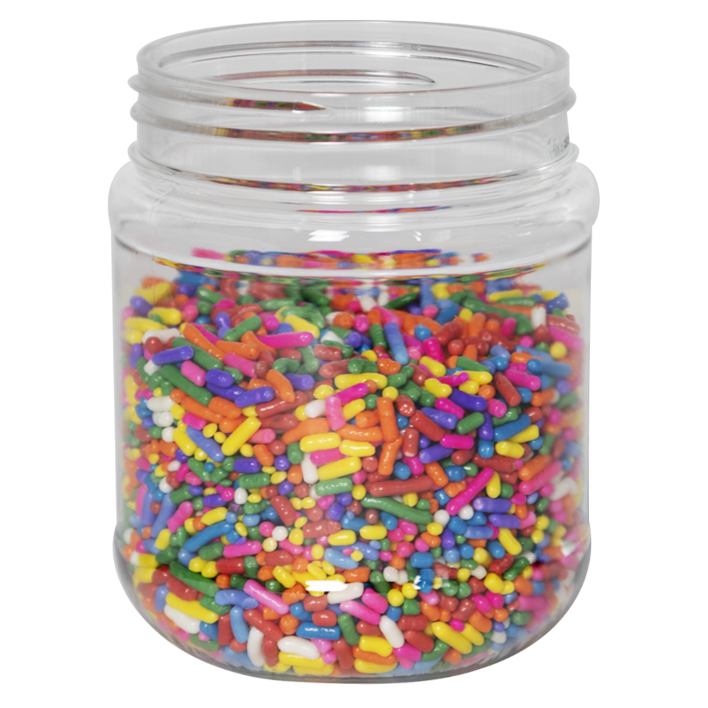 8 oz. Clear PET Jar with 63/400 Neck (Caps Sold Separately)