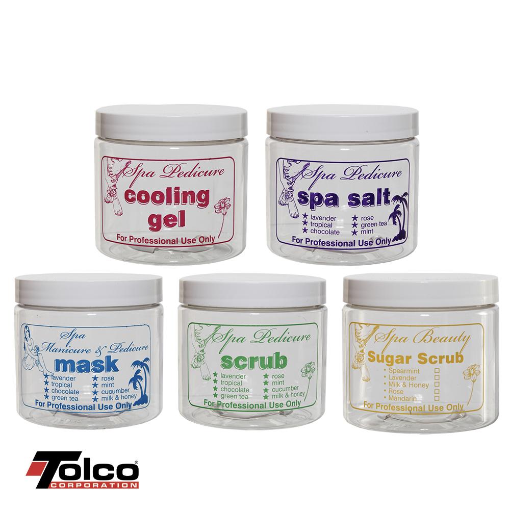 Health & Beauty Embossed PET Jars