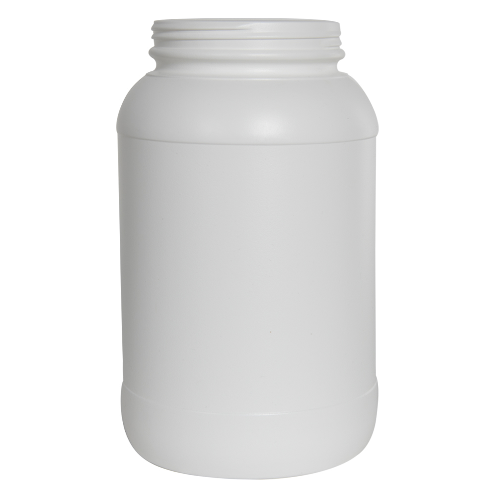 128 oz./1 Gallon Wide Mouth White HDPE Round Jar with 110/400 Neck