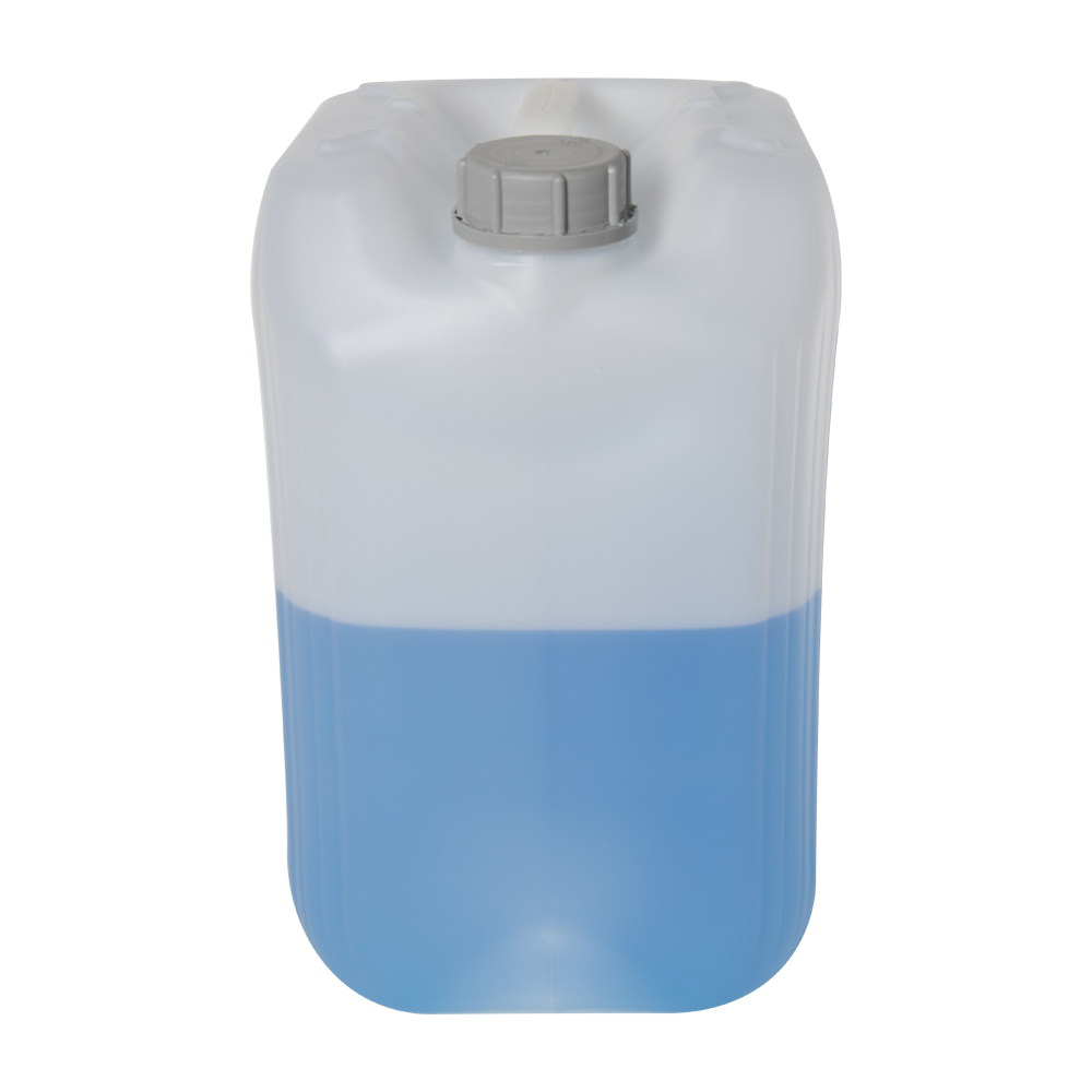 25 Liter/6.6 Gallon Natural HDPE Jerrican with 61mm Tamper-Evident Cap