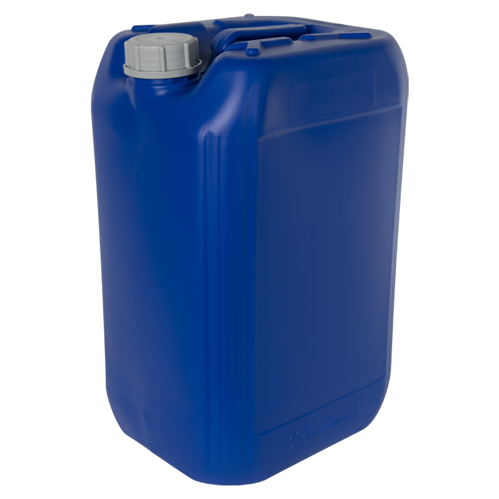 25 Liter/6.6 Gallon Blue HDPE Jerrican with 61mm Tamper-Evident Cap