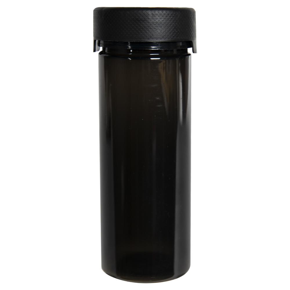 8 oz./240cc Translucent Black PET Aviator Container with Black CR Cap & Seal