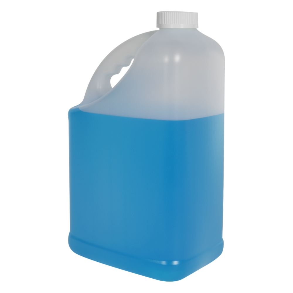 128 oz. HDPE Slant Handle Jug with 38/400 CRC Cap