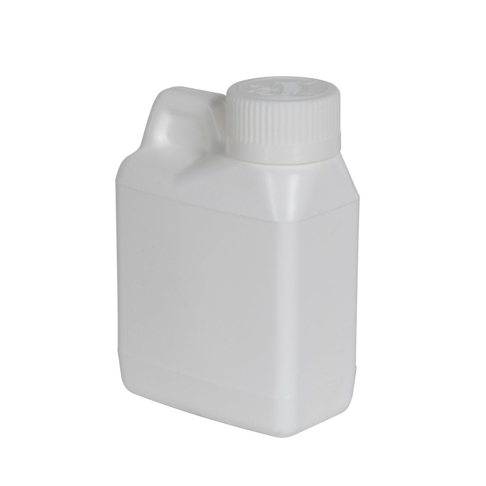 4 oz. White F-Style Jug with 24/400 White CRC Cap