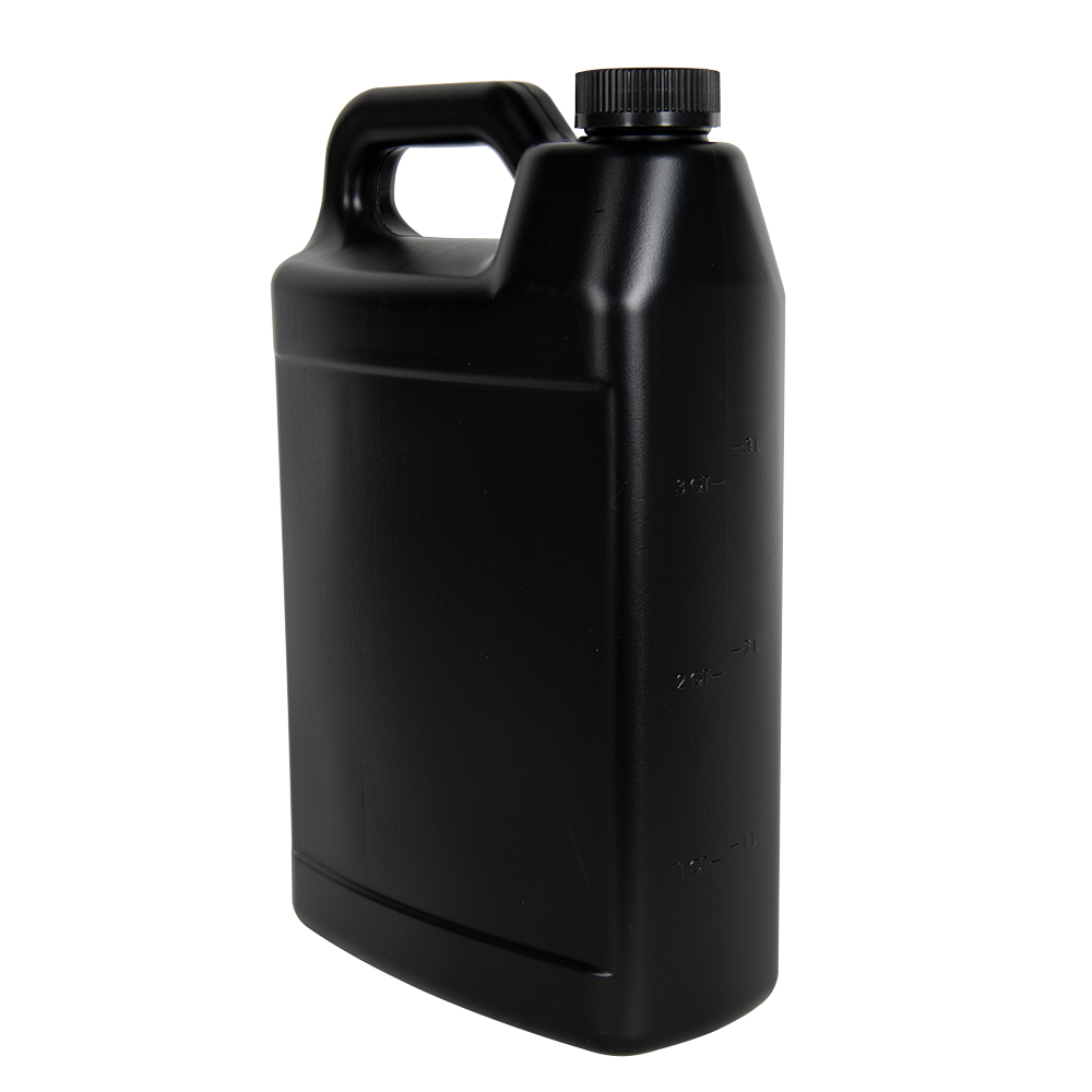 1 Gallon Black F-Style Jug with 38/400 Black CRC Cap
