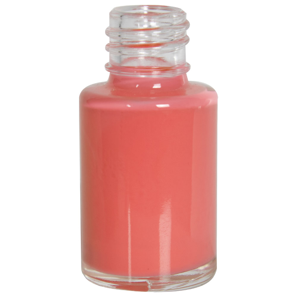 1/2 oz. Clear Stubby Cylinder Glass Bottle with 13/415 Neck (Cap Sold Separately)