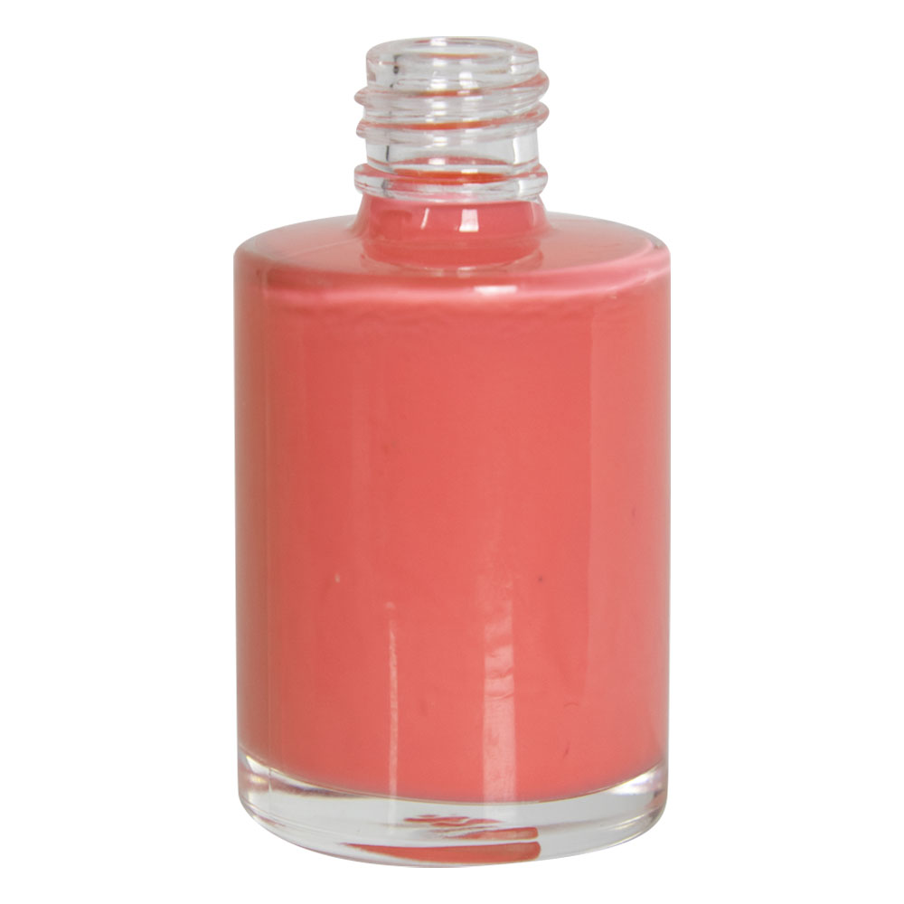 1 oz. Clear Stubby Cylinder Glass Bottle with 18/415 Neck (Cap Sold Separately)