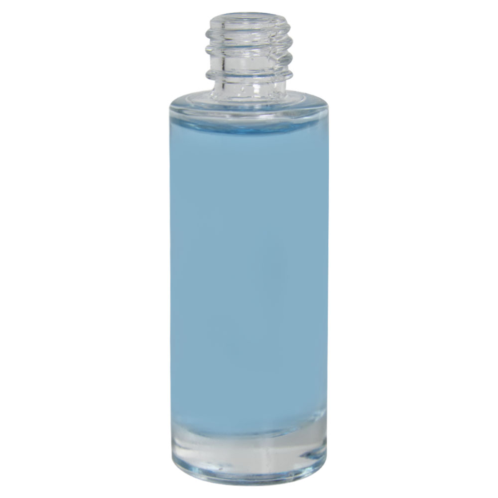 1 oz. Clear Tall Cylinder Glass Bottle with 18/415 Neck (Cap Sold Separately)